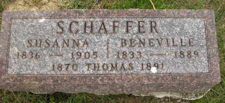 SCHAFFER, BENEVILLE - Union County, Ohio | BENEVILLE SCHAFFER - Ohio Gravestone Photos