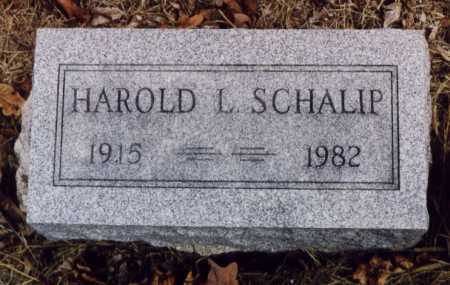 SCHALIP, HAROLD L - Union County, Ohio | HAROLD L SCHALIP - Ohio Gravestone Photos