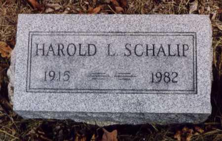 SCHALIP, HAROLD L - Union County, Ohio | HAROLD L SCHALIP - Ohio Gravestone Photos