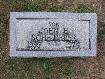 SCHEIDERER, JOHN H. - Union County, Ohio | JOHN H. SCHEIDERER - Ohio Gravestone Photos