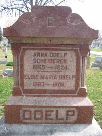 SCHEIDERER, ANNA DOELP - Union County, Ohio | ANNA DOELP SCHEIDERER - Ohio Gravestone Photos