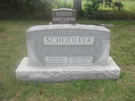 SCHEIDERER, CHRISTOPHER - Union County, Ohio | CHRISTOPHER SCHEIDERER - Ohio Gravestone Photos