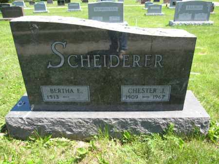 SCHEIDERER, CHESTER J. - Union County, Ohio | CHESTER J. SCHEIDERER - Ohio Gravestone Photos