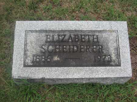 SCHEIDERER, ELIZABETH - Union County, Ohio | ELIZABETH SCHEIDERER - Ohio Gravestone Photos