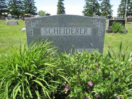 SCHEIDERER, FRANCES E. - Union County, Ohio | FRANCES E. SCHEIDERER - Ohio Gravestone Photos