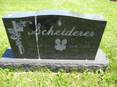 SCHEIDERER, EDGAR G. - Union County, Ohio | EDGAR G. SCHEIDERER - Ohio Gravestone Photos