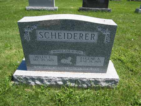 SCHEIDERER, EUGENE A. - Union County, Ohio | EUGENE A. SCHEIDERER - Ohio Gravestone Photos