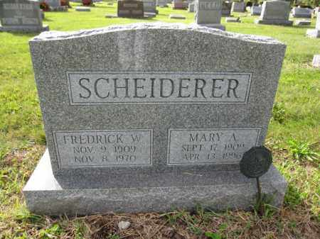 SCHEIDERER, MARY A. - Union County, Ohio | MARY A. SCHEIDERER - Ohio Gravestone Photos