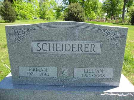 SCHEIDERER, FIRMAN - Union County, Ohio | FIRMAN SCHEIDERER - Ohio Gravestone Photos