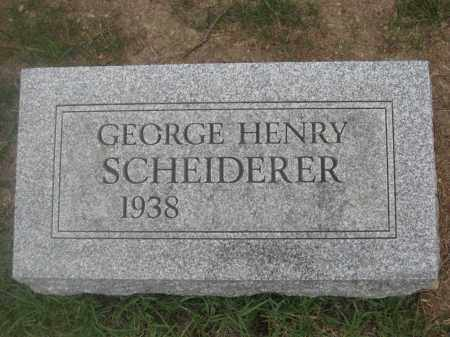 SCHEIDERER, GEORGE HENRY - Union County, Ohio | GEORGE HENRY SCHEIDERER - Ohio Gravestone Photos