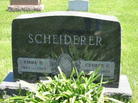 SCHEIDERER, EMMA D. - Union County, Ohio | EMMA D. SCHEIDERER - Ohio Gravestone Photos