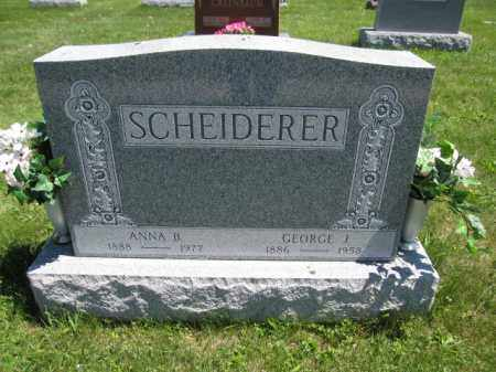 SCHEIDERER, GEORGE J. - Union County, Ohio | GEORGE J. SCHEIDERER - Ohio Gravestone Photos