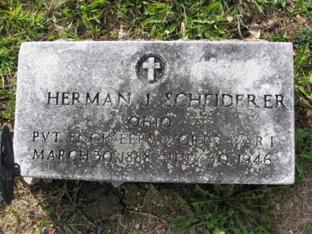 SCHEIDERER, HERMAN J. - Union County, Ohio | HERMAN J. SCHEIDERER - Ohio Gravestone Photos