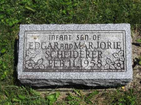 SCHEIDERER, INFANT SON - Union County, Ohio | INFANT SON SCHEIDERER - Ohio Gravestone Photos