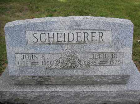 SCHEIDERER, LILLIE B. - Union County, Ohio | LILLIE B. SCHEIDERER - Ohio Gravestone Photos