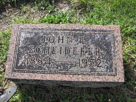 SCHEIDERER, JOHN L. - Union County, Ohio | JOHN L. SCHEIDERER - Ohio Gravestone Photos