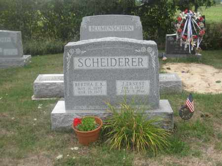SCHEIDERER, BERTHA E.K. - Union County, Ohio | BERTHA E.K. SCHEIDERER - Ohio Gravestone Photos