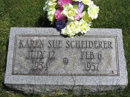 SCHEIDERER, KAREN SUE - Union County, Ohio | KAREN SUE SCHEIDERER - Ohio Gravestone Photos