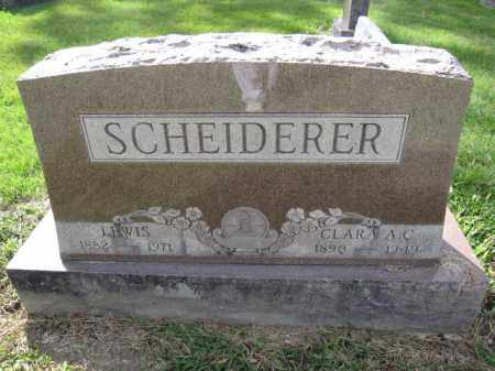 SCHEIDERER, LEWIS - Union County, Ohio | LEWIS SCHEIDERER - Ohio Gravestone Photos