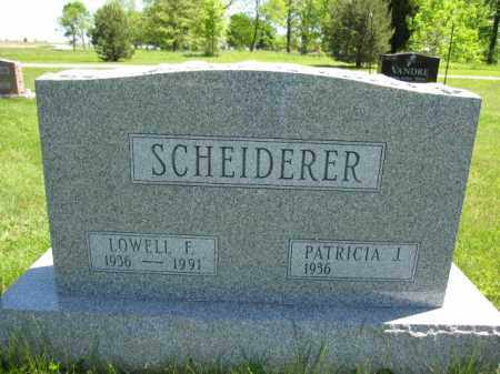 SCHEIDERER, LOWELL F. - Union County, Ohio | LOWELL F. SCHEIDERER - Ohio Gravestone Photos