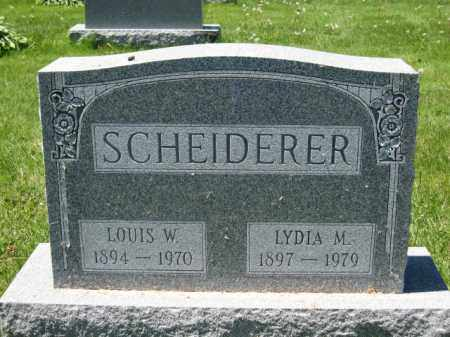 SCHEIDERER, LOUIS W. - Union County, Ohio | LOUIS W. SCHEIDERER - Ohio Gravestone Photos