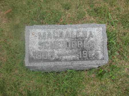 SCHEIDERER, MAGDALENA - Union County, Ohio | MAGDALENA SCHEIDERER - Ohio Gravestone Photos