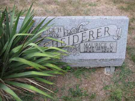SCHEIDERER, MAURICE C. - Union County, Ohio | MAURICE C. SCHEIDERER - Ohio Gravestone Photos