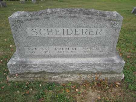 SCHEIDERER, MARGARET E. - Union County, Ohio | MARGARET E. SCHEIDERER - Ohio Gravestone Photos