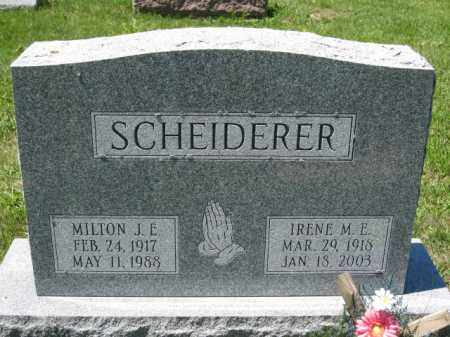 SCHEIDERER, IRENE M.E. - Union County, Ohio | IRENE M.E. SCHEIDERER - Ohio Gravestone Photos