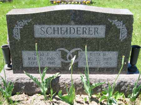 SCHEIDERER, RIETA M. - Union County, Ohio | RIETA M. SCHEIDERER - Ohio Gravestone Photos