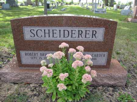 SCHEIDERER, ROBERT BRICKER - Union County, Ohio | ROBERT BRICKER SCHEIDERER - Ohio Gravestone Photos