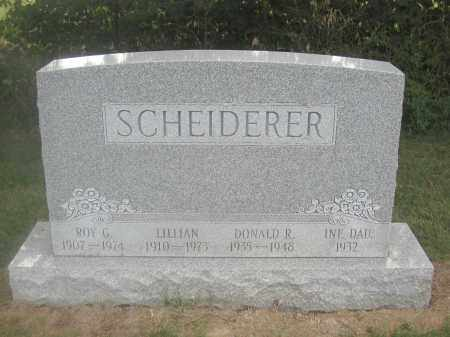 SCHEIDERER, LILLIAN - Union County, Ohio | LILLIAN SCHEIDERER - Ohio Gravestone Photos