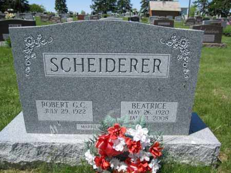 SCHEIDERER, ROBERT G.C. - Union County, Ohio | ROBERT G.C. SCHEIDERER - Ohio Gravestone Photos