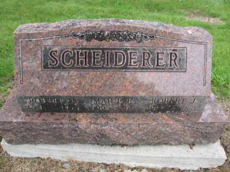 SCHEIDERER, ROBERT J. - Union County, Ohio | ROBERT J. SCHEIDERER - Ohio Gravestone Photos