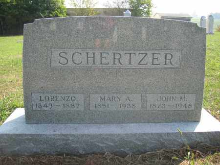SCHERTZER, JOHN M. - Union County, Ohio | JOHN M. SCHERTZER - Ohio Gravestone Photos