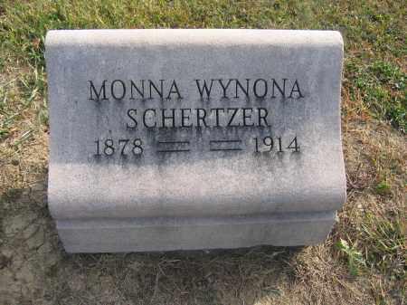 SCHERTZER, MONNA WYNONA - Union County, Ohio | MONNA WYNONA SCHERTZER - Ohio Gravestone Photos