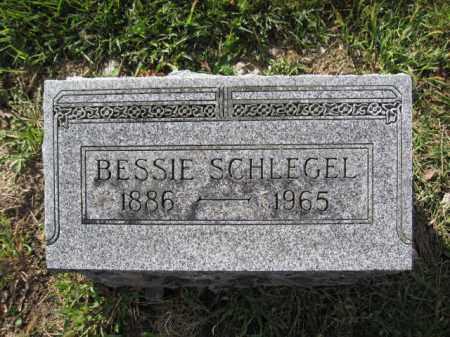SCHLEGEL, BESSIE - Union County, Ohio | BESSIE SCHLEGEL - Ohio Gravestone Photos