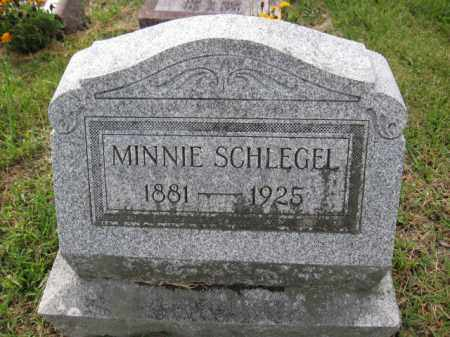 SCHLEGEL, MINNIE - Union County, Ohio | MINNIE SCHLEGEL - Ohio Gravestone Photos
