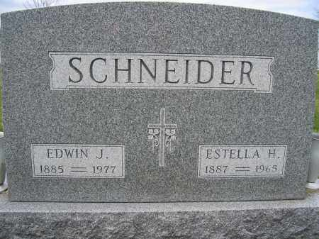 SCHNEIDER, ESTELLA H. - Union County, Ohio | ESTELLA H. SCHNEIDER - Ohio Gravestone Photos