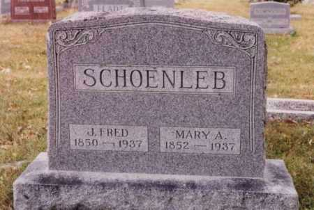 SCHOENLEB, MARY A - Union County, Ohio | MARY A SCHOENLEB - Ohio Gravestone Photos
