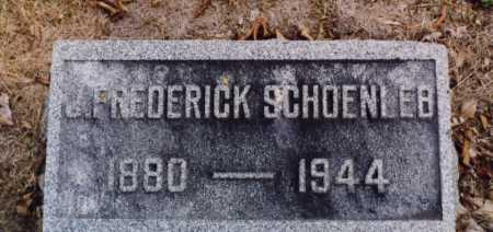 SCHOENLEB, J FREDERICK - Union County, Ohio | J FREDERICK SCHOENLEB - Ohio Gravestone Photos