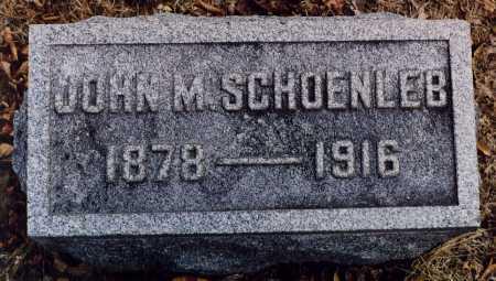 SCHOENLEB, JOHN M - Union County, Ohio | JOHN M SCHOENLEB - Ohio Gravestone Photos