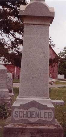 SCHOENLEB, UNKNOWN - Union County, Ohio | UNKNOWN SCHOENLEB - Ohio Gravestone Photos