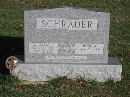 SCHRADER, WILLIAM E. - Union County, Ohio | WILLIAM E. SCHRADER - Ohio Gravestone Photos