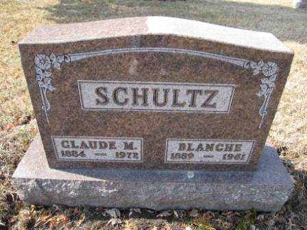 SCHULTZ, CLAUDE M. - Union County, Ohio | CLAUDE M. SCHULTZ - Ohio Gravestone Photos