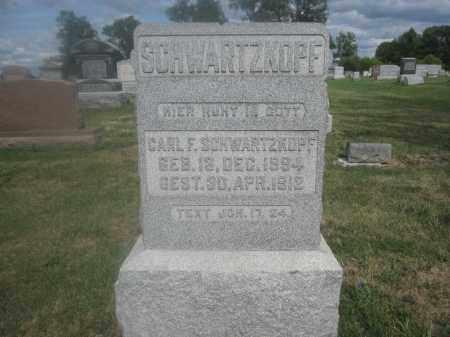 SCHWARTZKOPF, CARL F. - Union County, Ohio | CARL F. SCHWARTZKOPF - Ohio Gravestone Photos