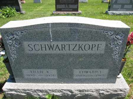 SCHWARTZKOPF, EDWARD L. - Union County, Ohio | EDWARD L. SCHWARTZKOPF - Ohio Gravestone Photos