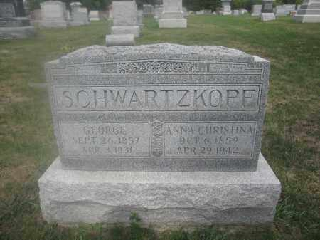 SCHWARTZKOPF, ANNA CHRISTINA - Union County, Ohio | ANNA CHRISTINA SCHWARTZKOPF - Ohio Gravestone Photos