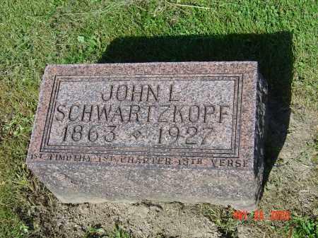 SCHWARTZKOPF, JOHN L - Union County, Ohio | JOHN L SCHWARTZKOPF - Ohio Gravestone Photos