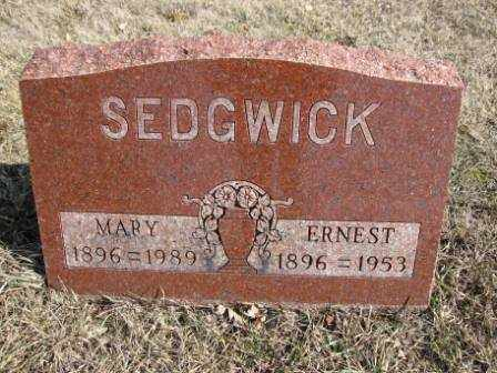 SEDGWICK, ERNEST - Union County, Ohio | ERNEST SEDGWICK - Ohio Gravestone Photos
